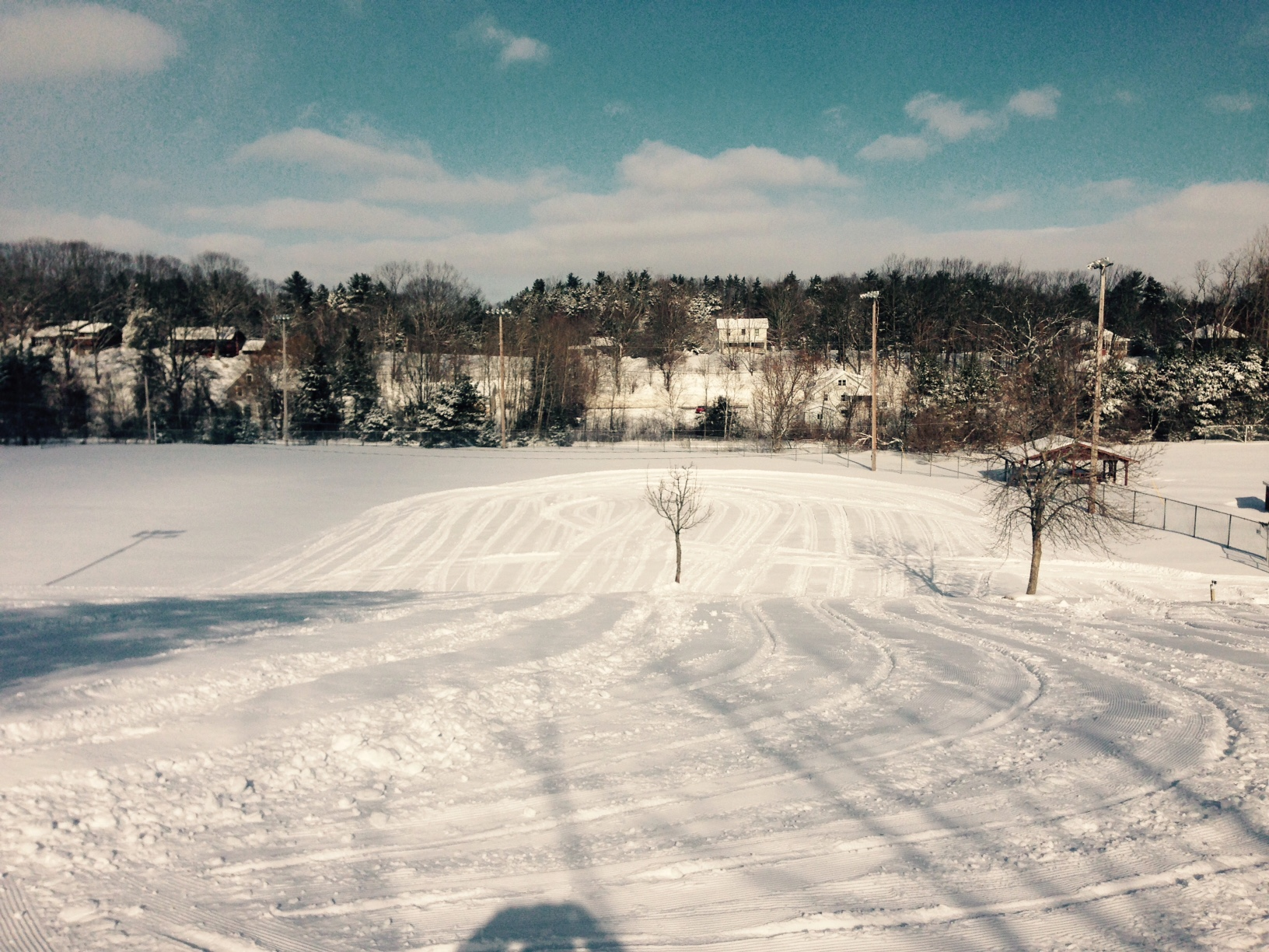 Winter sledding hill in Memorial Park