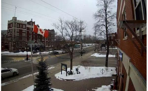 Screenshot from Town webcam facing east