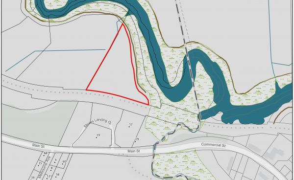 Map image shows the location of a proposed dog park